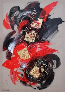 abstraite rouge et noire